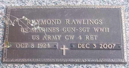 RAWLINGS (VETERAN WWII), RAYMOND - White County, Arkansas   RAYMOND RAWLINGS (VETERAN WWII) - Arkansas Gravestone Photos