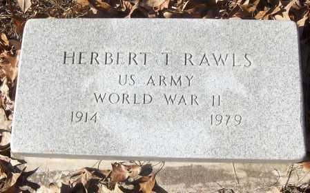 RAWLS (VETERAN WWII), HERBERT T - White County, Arkansas | HERBERT T RAWLS (VETERAN WWII) - Arkansas Gravestone Photos