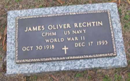 RECHTIN (VETERAN WWII), JAMES OLIVER - White County, Arkansas | JAMES OLIVER RECHTIN (VETERAN WWII) - Arkansas Gravestone Photos