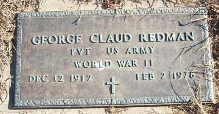 REDMAN (VETERAN WWII), GEORGE CLAUD - White County, Arkansas | GEORGE CLAUD REDMAN (VETERAN WWII) - Arkansas Gravestone Photos