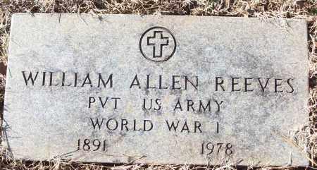 REEVES (VETERAN WWI), WILLIAM ALLEN - White County, Arkansas | WILLIAM ALLEN REEVES (VETERAN WWI) - Arkansas Gravestone Photos