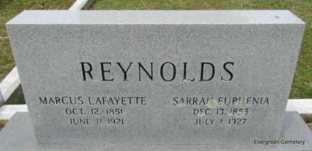 REYNOLDS, SARAH EUPHENIA - White County, Arkansas | SARAH EUPHENIA REYNOLDS - Arkansas Gravestone Photos