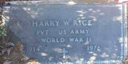 RICE (NETERAN WWII), HARRY W - White County, Arkansas | HARRY W RICE (NETERAN WWII) - Arkansas Gravestone Photos