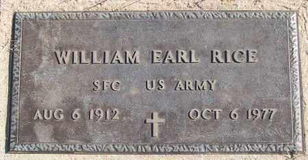 RICE (VETERAN), WILLIAM EARL - White County, Arkansas | WILLIAM EARL RICE (VETERAN) - Arkansas Gravestone Photos