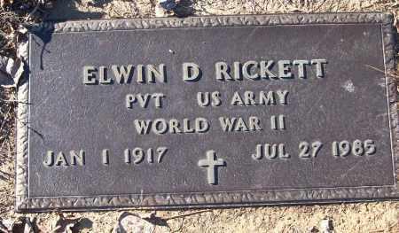 RICKETT (VETERAN WWII), ELWIN D - White County, Arkansas | ELWIN D RICKETT (VETERAN WWII) - Arkansas Gravestone Photos