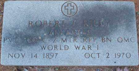 RILEY (VETERAN WWI), ROBERT F - White County, Arkansas | ROBERT F RILEY (VETERAN WWI) - Arkansas Gravestone Photos