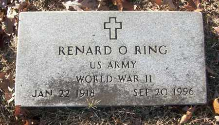 RING (VETERAN WWII), RENARD O - White County, Arkansas   RENARD O RING (VETERAN WWII) - Arkansas Gravestone Photos