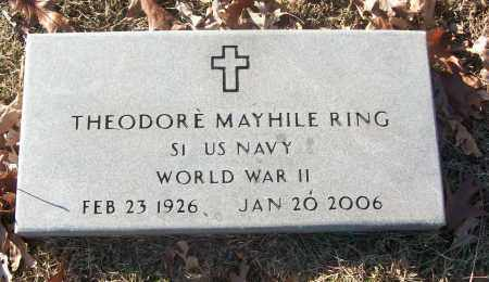 RING (VETERAN WWII), THEODORE MAYHILE - White County, Arkansas   THEODORE MAYHILE RING (VETERAN WWII) - Arkansas Gravestone Photos