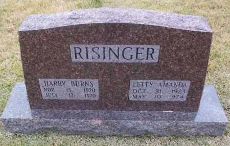 RISINGER  (VETERAN WWII), HARRY BURNS - White County, Arkansas | HARRY BURNS RISINGER  (VETERAN WWII) - Arkansas Gravestone Photos