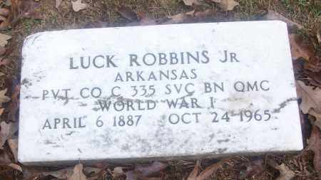 ROBBINS, JR  (VETERAN WWI), LUCK - White County, Arkansas | LUCK ROBBINS, JR  (VETERAN WWI) - Arkansas Gravestone Photos