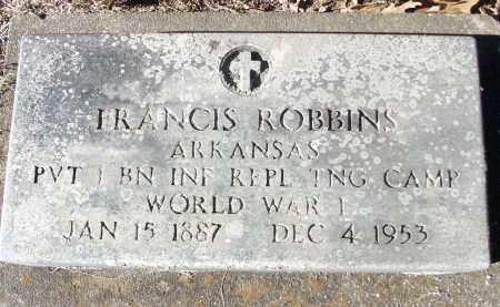 ROBBINS (VETERAN WWI), FRANCIS - White County, Arkansas | FRANCIS ROBBINS (VETERAN WWI) - Arkansas Gravestone Photos