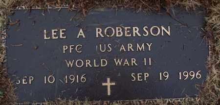 ROBERSON (VETERAN WWII), LEE A - White County, Arkansas | LEE A ROBERSON (VETERAN WWII) - Arkansas Gravestone Photos