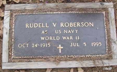 ROBERSON (VETERAN WWII), RUDELL V - White County, Arkansas | RUDELL V ROBERSON (VETERAN WWII) - Arkansas Gravestone Photos