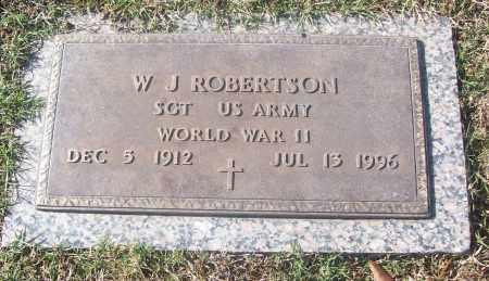 ROBERTSON  (VETERAN WWII), W. J. - White County, Arkansas   W. J. ROBERTSON  (VETERAN WWII) - Arkansas Gravestone Photos