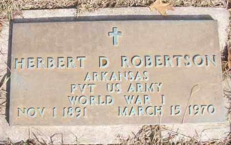 ROBERTSON (VETERAN WWI), HERBERT D - White County, Arkansas | HERBERT D ROBERTSON (VETERAN WWI) - Arkansas Gravestone Photos