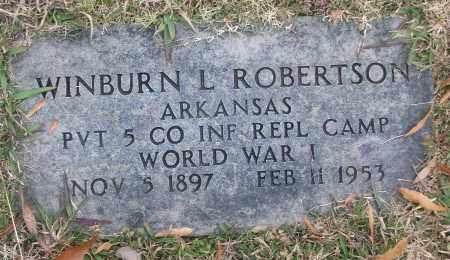 ROBERTSON (VETERAN WWI), WINBURN L - White County, Arkansas | WINBURN L ROBERTSON (VETERAN WWI) - Arkansas Gravestone Photos