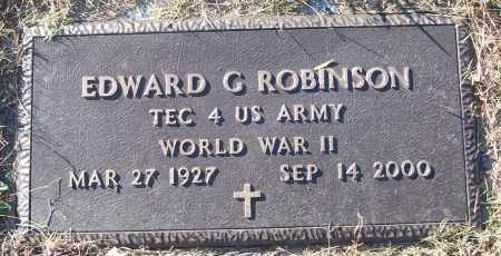 ROBINSON (VETERAN WWII), EDWARD G - White County, Arkansas | EDWARD G ROBINSON (VETERAN WWII) - Arkansas Gravestone Photos