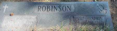 HENDRIX ROBINSON, BESSIE - White County, Arkansas   BESSIE HENDRIX ROBINSON - Arkansas Gravestone Photos