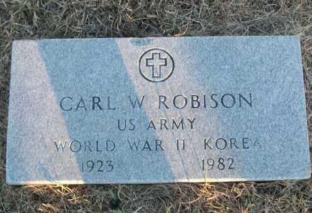 ROBISON (VETERAN 2 WARS), CARL W - White County, Arkansas   CARL W ROBISON (VETERAN 2 WARS) - Arkansas Gravestone Photos