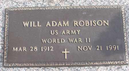 ROBISON (VETERAN WWII), WILL ADAM - White County, Arkansas   WILL ADAM ROBISON (VETERAN WWII) - Arkansas Gravestone Photos