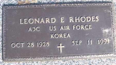 RHODES (VETERAN KOR), LEONARD E - White County, Arkansas | LEONARD E RHODES (VETERAN KOR) - Arkansas Gravestone Photos