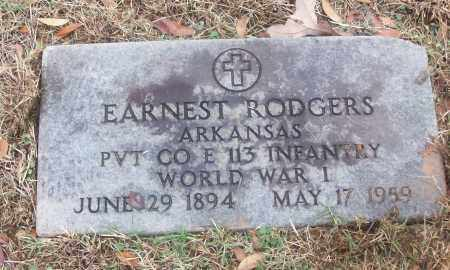 RODGERS  (VETERAN WWI), EARNEST - White County, Arkansas | EARNEST RODGERS  (VETERAN WWI) - Arkansas Gravestone Photos