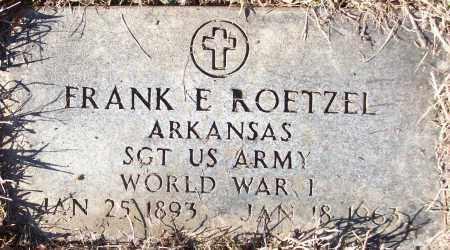 ROETZEL (VETERAN WWI), FRANK E - White County, Arkansas | FRANK E ROETZEL (VETERAN WWI) - Arkansas Gravestone Photos