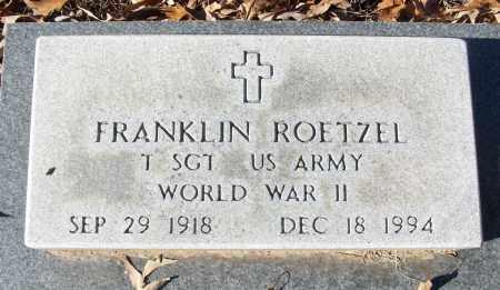 ROETZEL (VETERAN WWII), FRANKLIN - White County, Arkansas   FRANKLIN ROETZEL (VETERAN WWII) - Arkansas Gravestone Photos