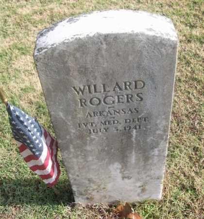 ROGERS  (VETERAN), WILLARD - White County, Arkansas | WILLARD ROGERS  (VETERAN) - Arkansas Gravestone Photos