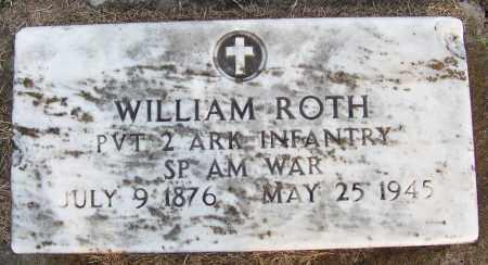 ROTH (VETERAN SAW), WILLIAM - White County, Arkansas | WILLIAM ROTH (VETERAN SAW) - Arkansas Gravestone Photos