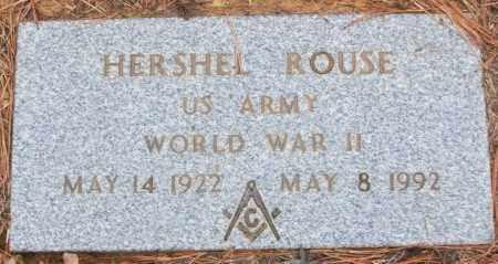 ROUSE (VETERAN WWII), HERSHEL - White County, Arkansas | HERSHEL ROUSE (VETERAN WWII) - Arkansas Gravestone Photos