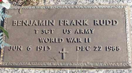 RUDD (VETERAN WWII), BENJAMIN FRANK - White County, Arkansas   BENJAMIN FRANK RUDD (VETERAN WWII) - Arkansas Gravestone Photos
