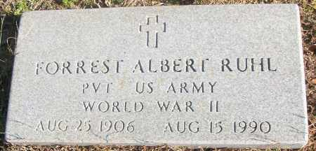 RUHL  (VETERAN WWII), FORREST ALBERT - White County, Arkansas   FORREST ALBERT RUHL  (VETERAN WWII) - Arkansas Gravestone Photos