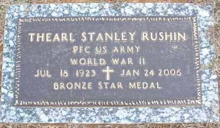 RUSHIN (VETERAN WWII), THEARL STANLEY - White County, Arkansas | THEARL STANLEY RUSHIN (VETERAN WWII) - Arkansas Gravestone Photos