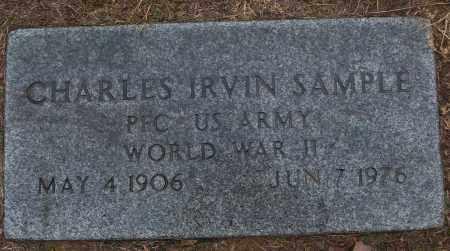 SAMPLE (VETERAN WWII), CHARLES IRVIN - White County, Arkansas   CHARLES IRVIN SAMPLE (VETERAN WWII) - Arkansas Gravestone Photos