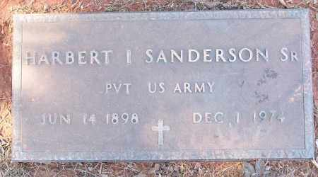 SANDERSON, SR (VETERAN), HARBERT I - White County, Arkansas | HARBERT I SANDERSON, SR (VETERAN) - Arkansas Gravestone Photos