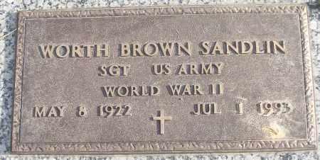 SANDLIN (VETERAN WWII), WORTH BROWN - White County, Arkansas | WORTH BROWN SANDLIN (VETERAN WWII) - Arkansas Gravestone Photos