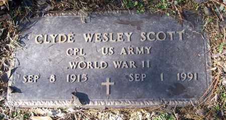 SCOTT (VETERAN WWII), CLYDE WESLEY - White County, Arkansas | CLYDE WESLEY SCOTT (VETERAN WWII) - Arkansas Gravestone Photos