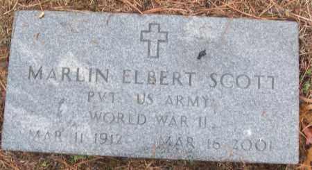 SCOTT (VETERAN WWII), MARLIN ELBERT - White County, Arkansas | MARLIN ELBERT SCOTT (VETERAN WWII) - Arkansas Gravestone Photos