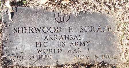 SCRAPE (VETERAN WWI), SHERWOOD E - White County, Arkansas | SHERWOOD E SCRAPE (VETERAN WWI) - Arkansas Gravestone Photos