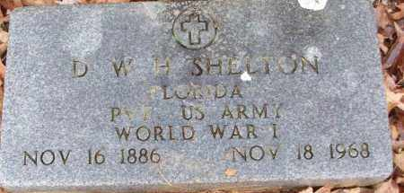 SHELTON (VETERAN WWI), D W H - White County, Arkansas | D W H SHELTON (VETERAN WWI) - Arkansas Gravestone Photos