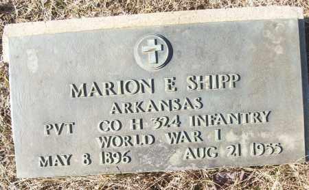 SHIPP (VETERAN WWI), MARION E - White County, Arkansas | MARION E SHIPP (VETERAN WWI) - Arkansas Gravestone Photos