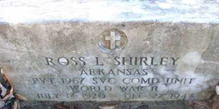 SHIRLEY (VETERAN WWII), ROSS L - White County, Arkansas | ROSS L SHIRLEY (VETERAN WWII) - Arkansas Gravestone Photos