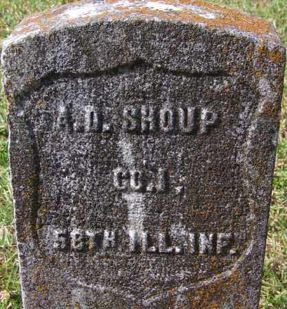 SHOUP (VETERAN UNION), A D - White County, Arkansas | A D SHOUP (VETERAN UNION) - Arkansas Gravestone Photos