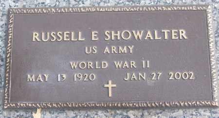 SHOWALTER (VETERAN WWII), RUSSELL E - White County, Arkansas | RUSSELL E SHOWALTER (VETERAN WWII) - Arkansas Gravestone Photos