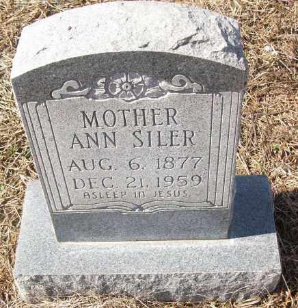 SILER, ANN - White County, Arkansas | ANN SILER - Arkansas Gravestone Photos