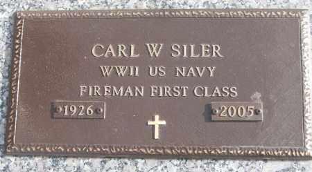 SILER (VETERAN WWII), CARL W - White County, Arkansas | CARL W SILER (VETERAN WWII) - Arkansas Gravestone Photos