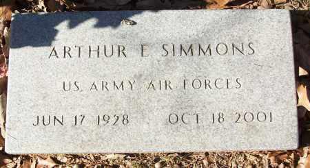 SIMMONS (VETERAN), ARTHUR E - White County, Arkansas   ARTHUR E SIMMONS (VETERAN) - Arkansas Gravestone Photos