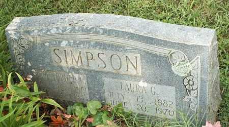 SIMPSON, LAURA G - White County, Arkansas   LAURA G SIMPSON - Arkansas Gravestone Photos