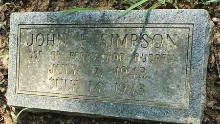 SIMPSON, JOHN E - White County, Arkansas | JOHN E SIMPSON - Arkansas Gravestone Photos